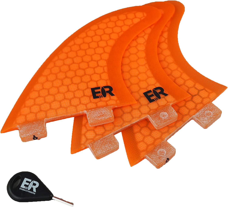 Surfboard FCS Finnen Set Fiberglass Honeycomb Fins Small//Medium Fin Key