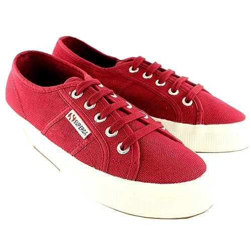 4edb95175637d Hombre Superga 2750 Cotu Classic Plimsoll Encaje Lienzo Entrenadores - Rojo  Scarlet - 47  Amazon.es  Zapatos y complementos
