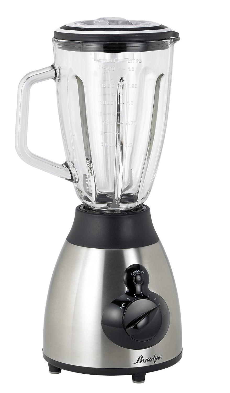 Tristar BL-4417 Batidora de vaso 1.5L 500W Negro, Acero inoxidable - Licuadora (Batidora de vaso, 1,5 L, Negro, Acero inoxidable, Vidrio, Acero inoxidable, ...