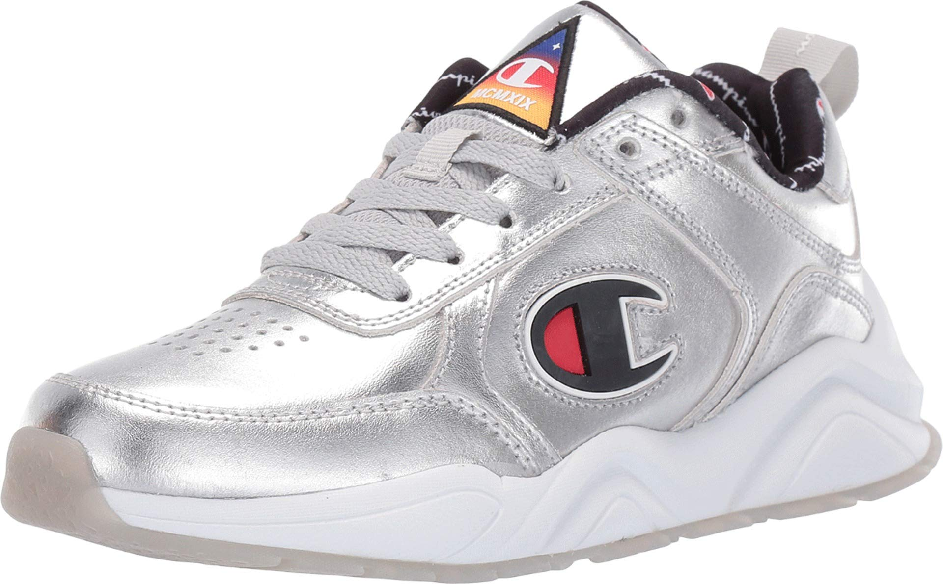 Champion Youth GS 93 Eighteen NASA Metallic Sneaker in Silver-Silver_7