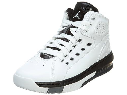 Nike Jordan OL'School Men's Basketball Shoes White/Metallic Silver- Black- Cool