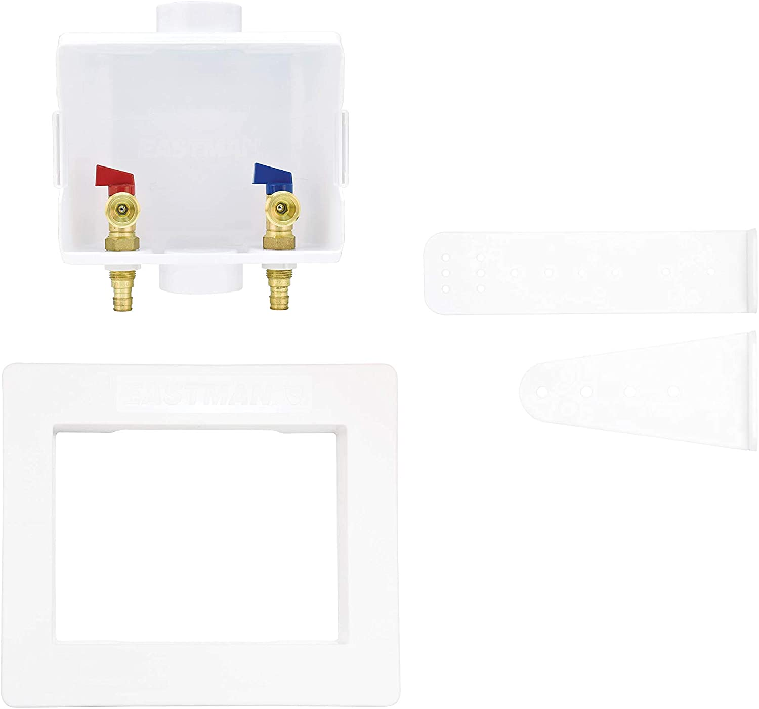 Eastman 60260 Washing Machine Outlet Box with Center Drain