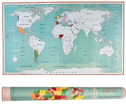 Mapa Del Mundo Para Rascar REX LONDON: Amazon.es: Oficina y papelería