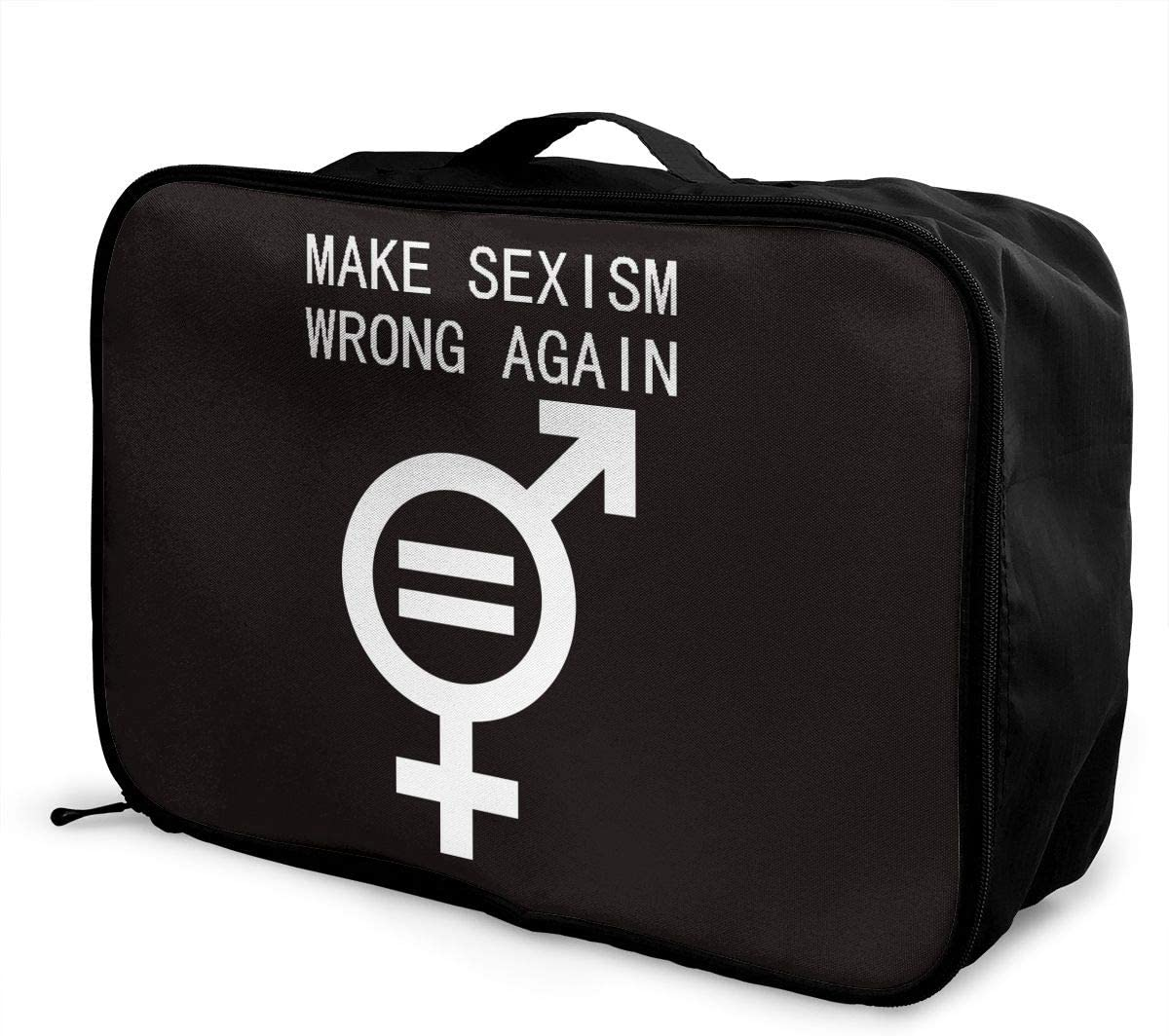 Make Sexism Wrong Again Carry Lightweight Large Capacity Portable Hiking Luggage Trolley Bag