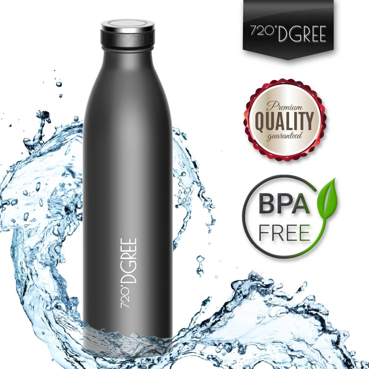 "720°DGREE Water Bottle ""milkyBottle"" 500ml, 750ml, 1litre 