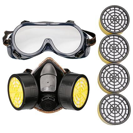 A-szcxtop getgastro respirador Antigas máscara, PINTURA mascarilla anti-polvo químico, con
