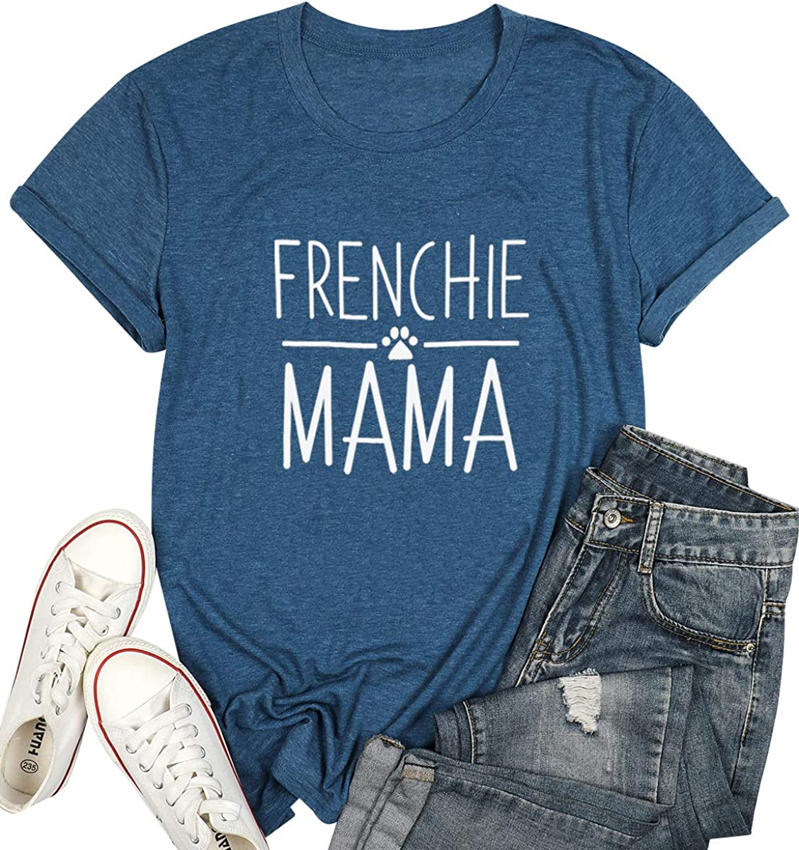 French Bulldog Dog Mom Muscle Tank Top Momma Mama Funny Workout Gym Cute Gift Tee T-shirt Tshirt Womens