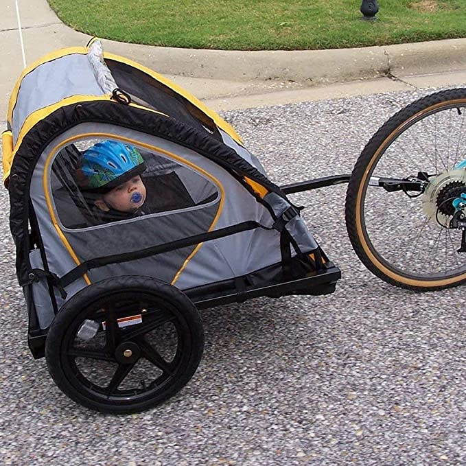 Child Pet Stroller Bicycle Trailer Coupler Hitch Steel Rear Replacement Axle