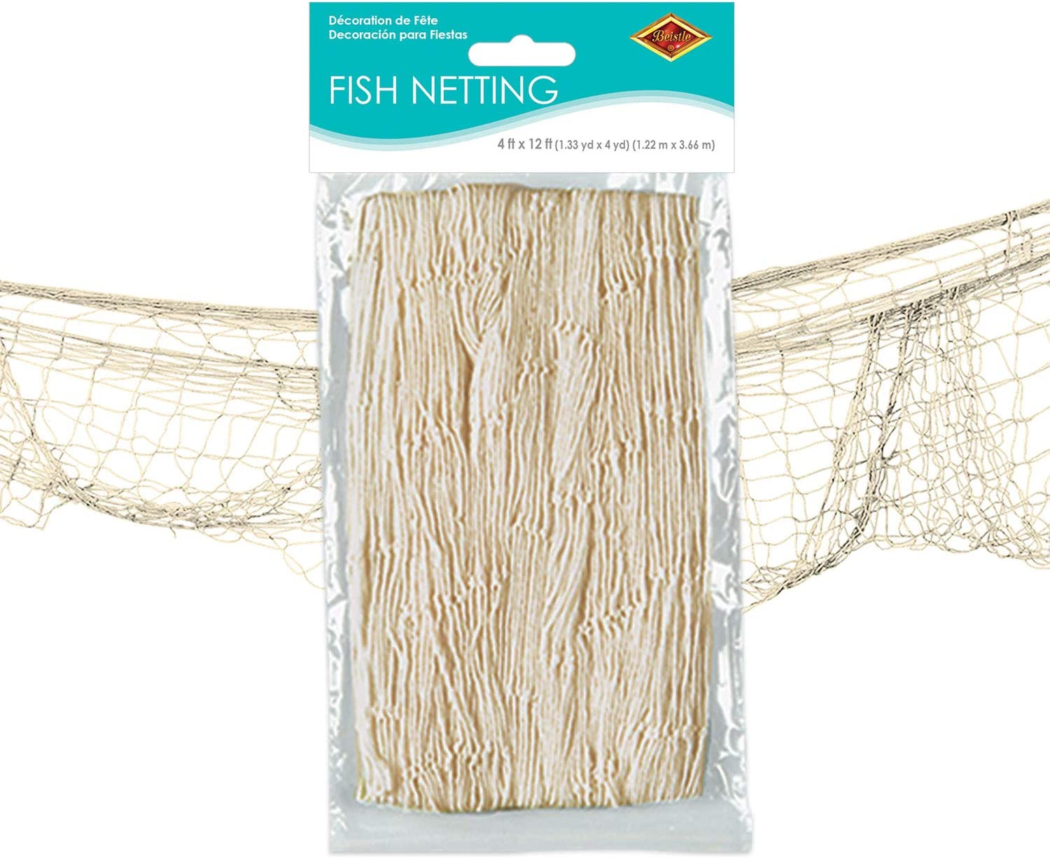 Beistle Fish Netting, Natural Color, 4' x 12'