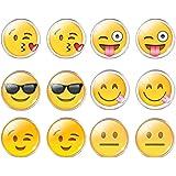 Jiayiqi Schmuck Frauen Amüsant Emoticon Glas Zeit Gemme Ohrstecker Ohrringe Gelb