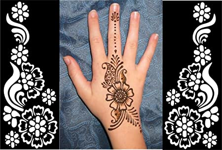 Henna Mehndi Stickers : New pop henna stickers tattoo body art mehndi stencils template