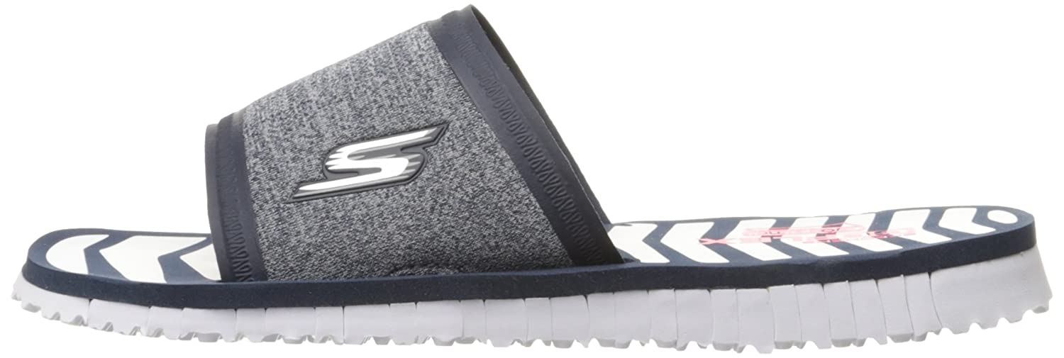Skechers Performance Women's Go Flex Rely Flip Flop B013KXOOZU 11 B(M) US|Navy/White