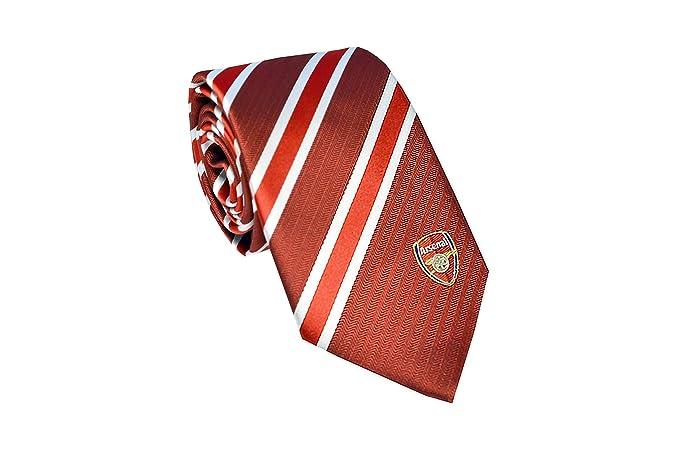 Arsenal FC - Corbata oficial con el escudo del club - Rojo/blanco ...