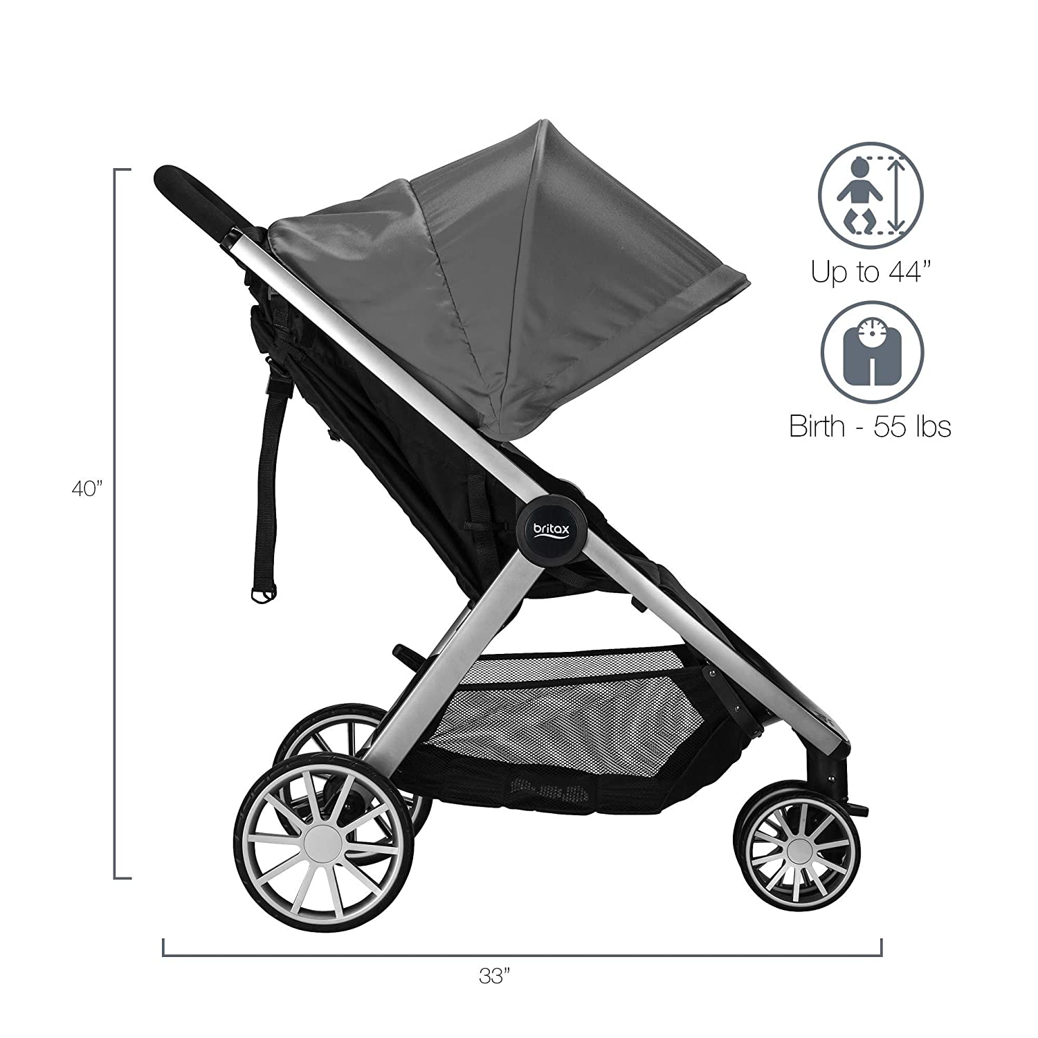 Britax B-Lively B-Safe Ultra Travel System, Gris