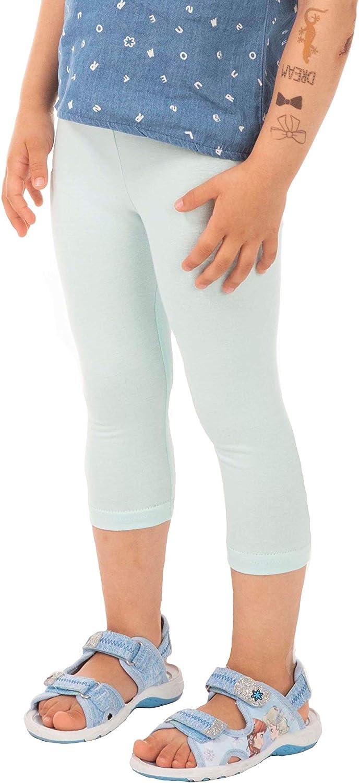 BeLady Ragazza Leggings da Bambina Pantacollant di Cotone Opaco Basic Capri Lunghezza /¾ Molti Colori 3-14 anni