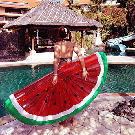 WLWWY Flotador Inflable Gigante De La Piscina Del Modelo De La Sandía, Piscina Al Aire Libre ...