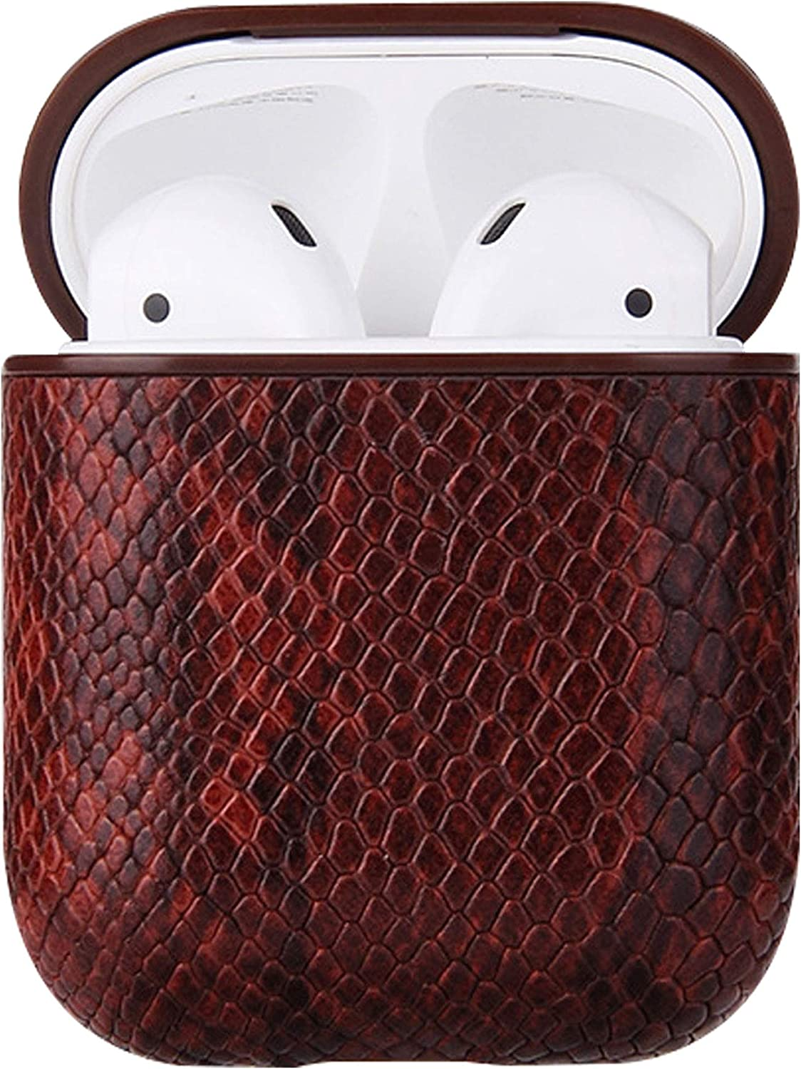 Compatible with Apple Airpod Cases 1/2 Gen (Brown)