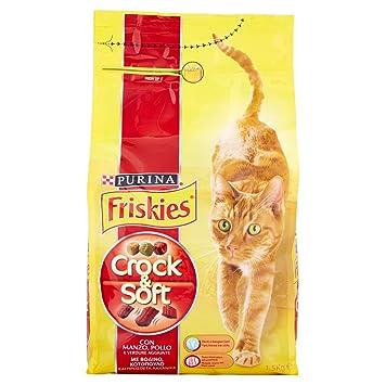 Friskies Crock y Soft pienso para el Gato, con Manzo, Pollo y Verduras aggiunte