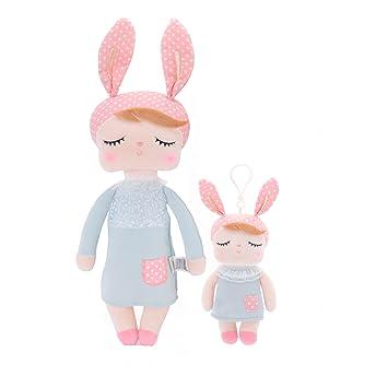 dcd3780c92e Amazon.com   Easter Gifts Plush Baby Doll Girl Gifts - Rabbit Fairy Baby  Doll Stuffed Bunny 2pcs   Baby
