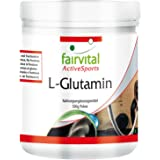 L-Glutamina en polvo - para 100 días - VEGANO - dosis alta - 500 g - ácido amino sin aditivos
