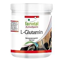 L-glutamine Powder - for 100 Days - Vegan - HIGH Dosage - 500g - Amino Acid Without additives