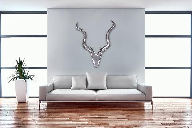 Wohnling Hirschgeweih Deer L Wanddekoration 80 Cm Aluminium