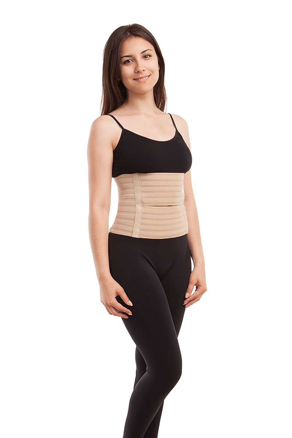 Amazon.com: ITA-MED Womens Breathable 9 Inch Wide Post-Partum Abdominal Support Binder, Beige, X-Large, 1 Pound: Health & Personal Care
