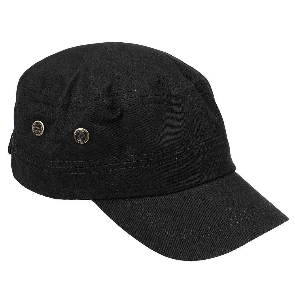 MonkeyJack Men Fashion Cotton Flat Top Visor Baseball Hat Cap