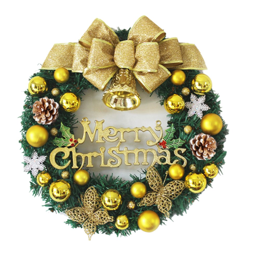 The Golden Butterfly Christmas Wreath Garland Ornaments Arcades Hotel Christmas Decorations (35cm)