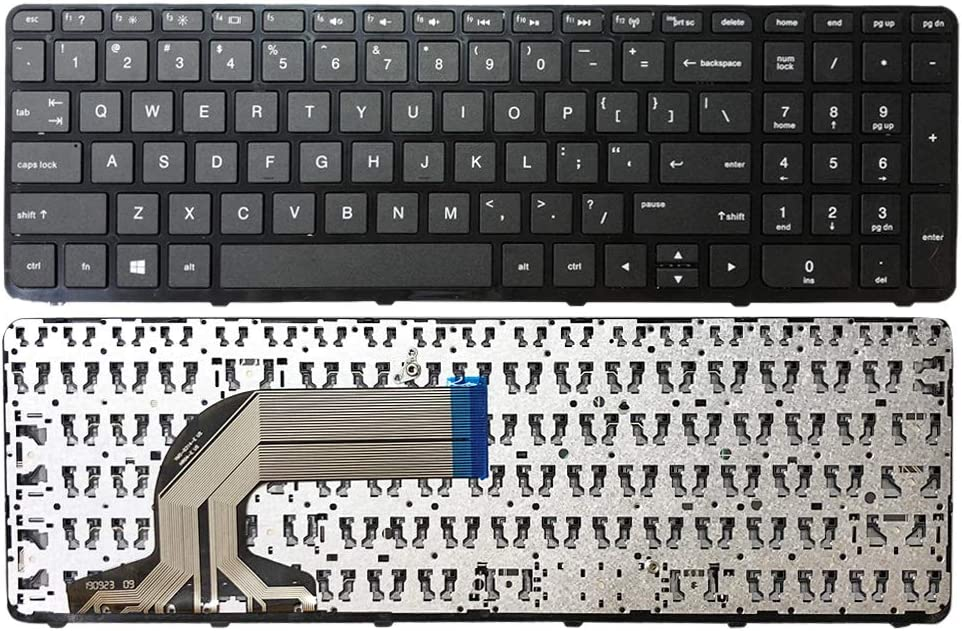 GinTai US Keyboard with Frame Black Replacement for HP 15-g069cl 15-g070nr 15-g071nr 15-g072nr US Stock