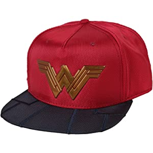 detailed look 87fc8 57787 Bioworld Wonder Woman Reflective Logo Costume Adult Snapback Cap