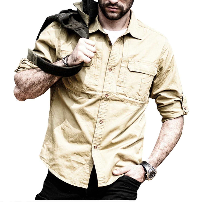 Slim Men 's Long - Sleeved Shirt Multi - Color Multi - Dimensional Fashion