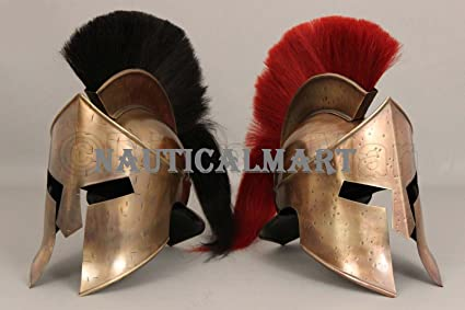 Amazon.com : NAUTICALMART 300 Leonidas Armor Helmet New ...