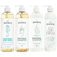 Amazon.com deals on 4-Pack Puracy Organic Hair & Skin Care Set