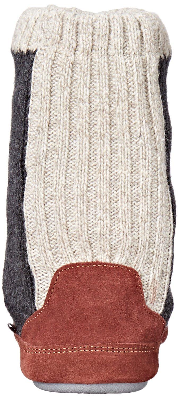 Acorn Men's Slouch Boot Slipper, Charcoal Ragg Wool, Medium/9-10 B US by Acorn (Image #2)