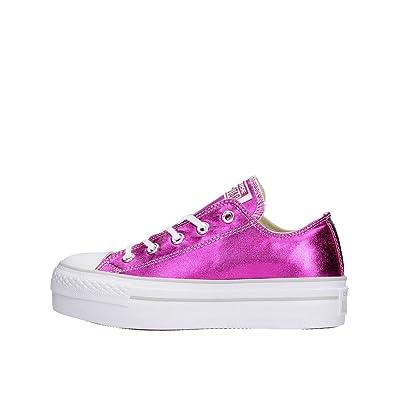 scarpe basse converse donna fucsia