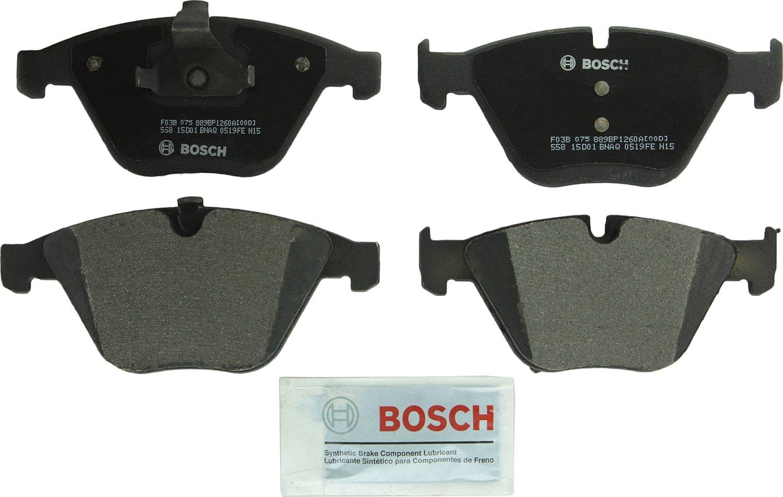2004-2007 530i; Front 2008 528xi Bosch BP1260A QuietCast Premium Semi-Metallic Disc Brake Pad Set For BMW: 2006 525i 2008 528i