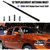 "for Dodge Ram 1500/2500/3500 Truck 2009-2017 - 13"" Antenna Replacement Mast - Installs in Seconds - Black Car Aerial"