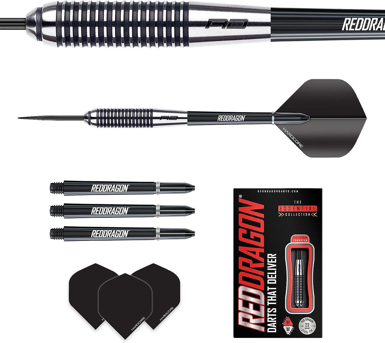 Red Dragon Precision Ringed Grip Darts 21g 29g 23g 28g 27g 25g Tungsten Darts Set with Flights and Stems