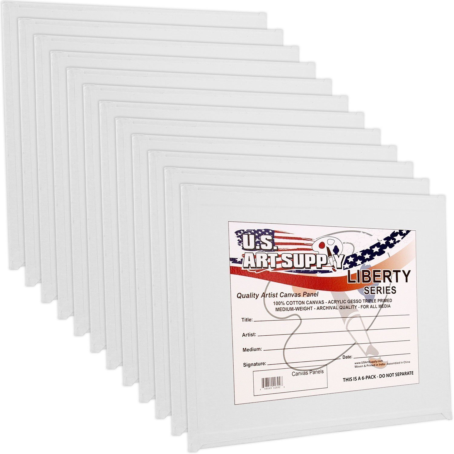 US Art Supply 8 X 10 inch Professional Artist Quality Acid Free Canvas Panels 12-Pack (1 Full Case of 12 Single Canvas Panels) by US Art Supply