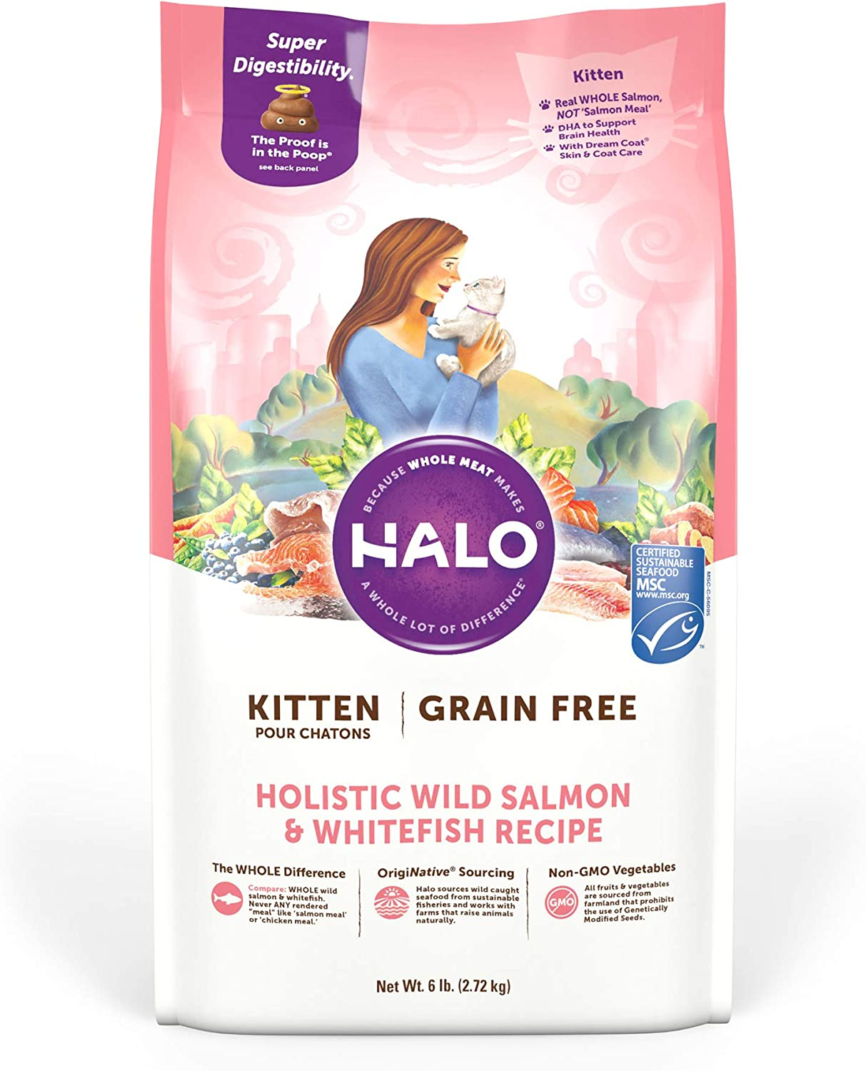 Halo Grain Free Natural Dry Cat Food, Kitten Recipe