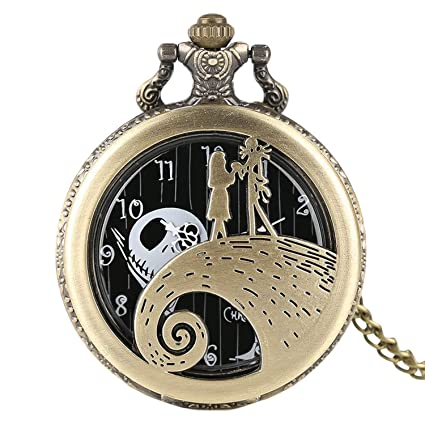 d9bcc1620 Image Unavailable. Image not available for. Color: CHITOP The Nightmare  Before Christmas- Jack Skellington Tim Burton Movie Kid Toys Watches - Fashion
