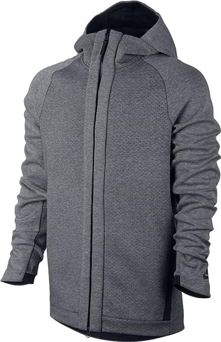 Nike M NSW TCH FLC Hoodie FZ Sweat Shirt pour Homme, Gris