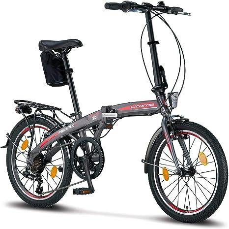 Licorne Bike Phoenix, 20 pulgadas, aluminio, bicicleta plegable para hombre y mujer, pulgadas con 7 marchas Shimano, folding, marco de aluminio, cubierta Produktname: Amazon.es: Deportes y aire libre