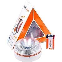 HELP FLASH HFAA-01 Estandar Luz de Emergencia Autónoma Señal V16 de Preseñalización de Peligro, Homologada, Autorizada…