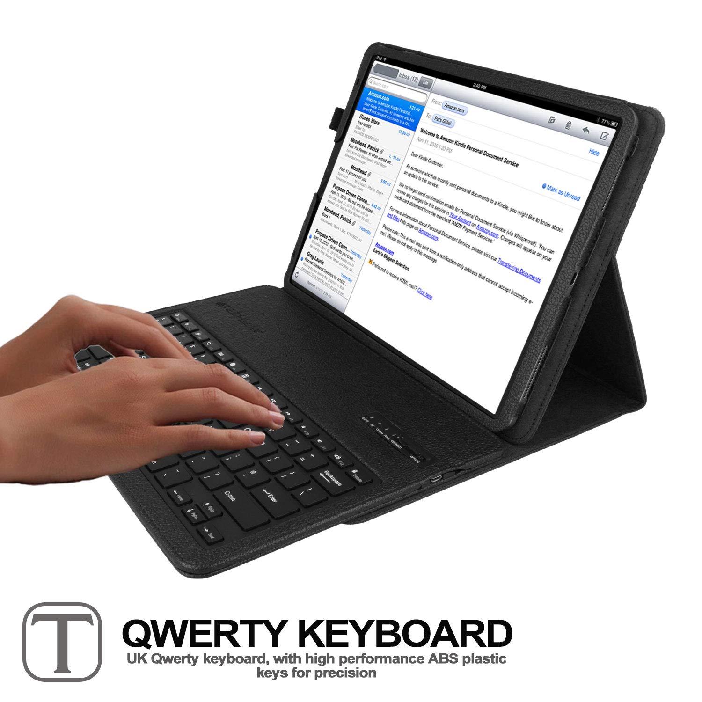 Strike Folio Case TECHGEAR Keyboard Case for iPad Pro 12.9 2018 // 3rd Gen Keyboard /& Stand for 2018 Apple iPad Pro 12.9 inch UK QWERTY PU Leather Smart Case with Detachable Wireless Pink