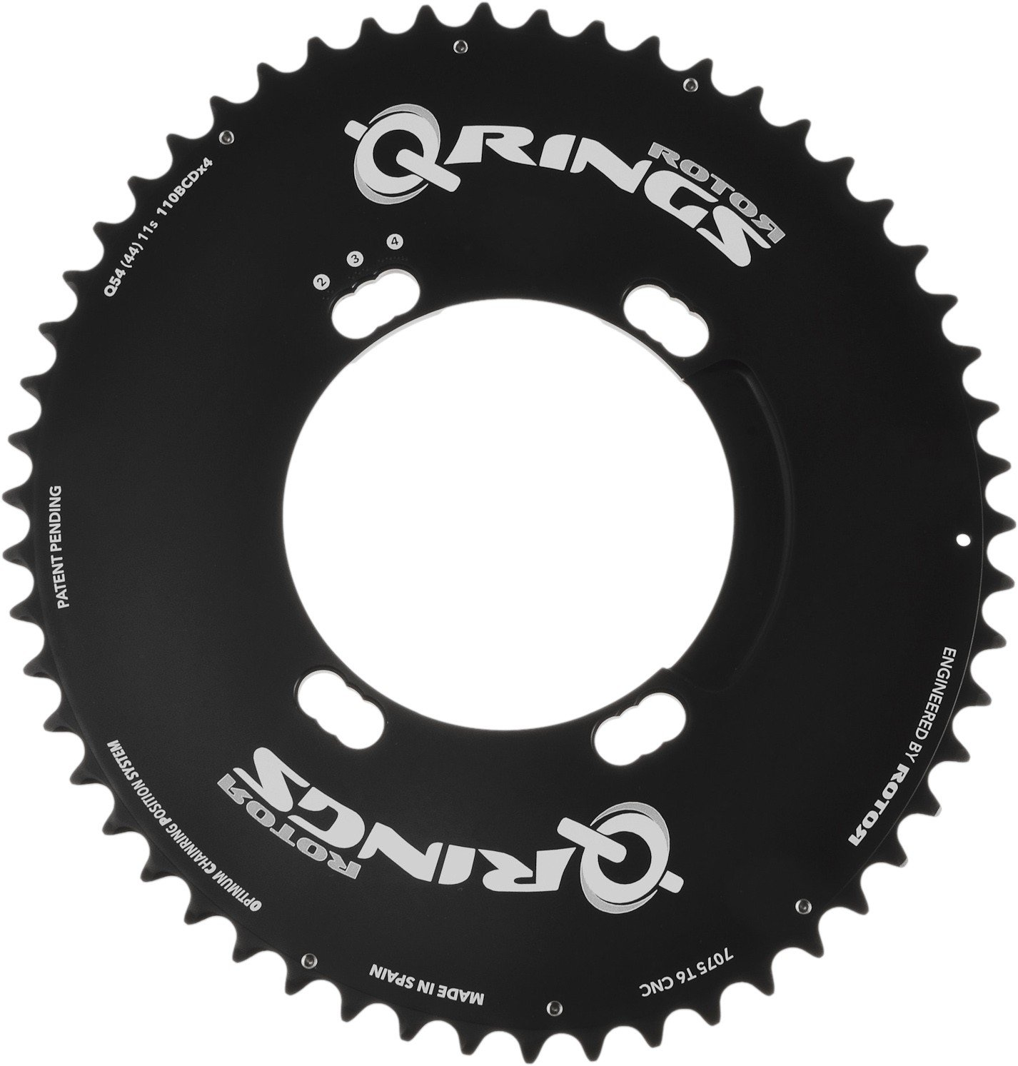 ROTOR(ローター) Q-RINGS AERO SHIMANO Road Chainring Compact 110PCD [Outer: 53-50T] [並行輸入品] B06Y3VH82N 52T Outer