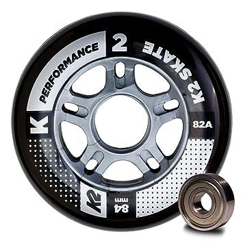 K2 30B3010.1.1.1SIZ - Juego de 8 Ruedas de Rendimiento para Patines en línea, 84 mm, ILQ 7, tamaño único: Amazon.es: Deportes y aire libre