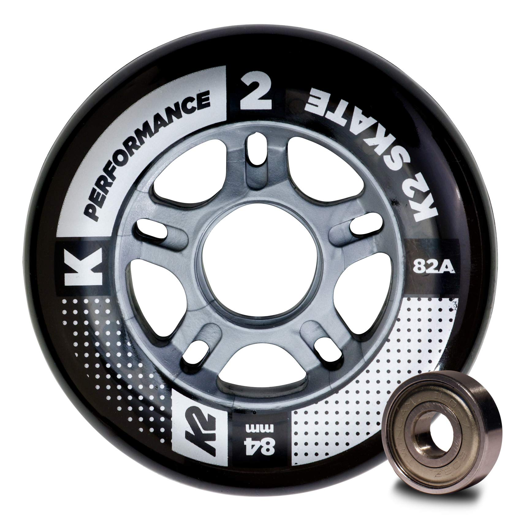 K2 Wheel Set 84 mm Performance Wheel 8-Pack/ILQ 7, Multicoloured, One Size, 30B3010.1.1.1SIZ