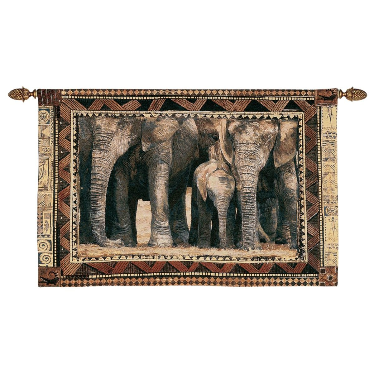Design Toscano African Wildlife Among Family Wall Tapestry